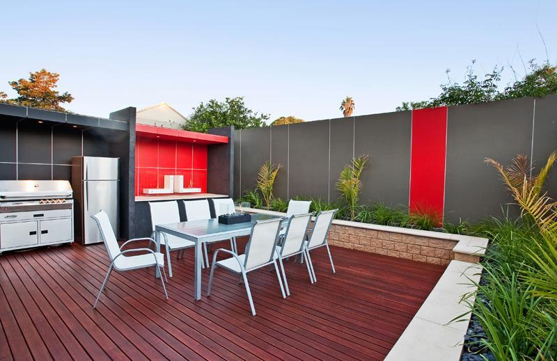 Decking spaced interior design ideas photos and for Backyard design ideas australia